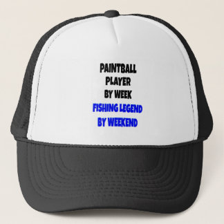 魚釣りの伝説のペイントボールプレーヤー キャップ