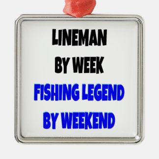 魚釣りの伝説の架線工夫 メタルオーナメント