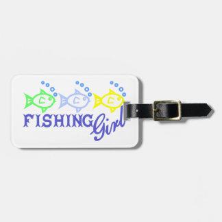 魚釣りの女の子 ラゲッジタグ