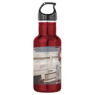 魚釣りの巻き枠の赤い灰色の銀製のビーチのユート語 ウォーターボトル