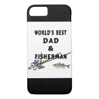 魚釣りの父のベストのパパ iPhone 7ケース