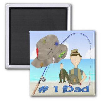 魚釣りの父の日の磁石 マグネット