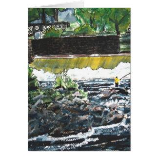 魚釣りの絵画の芸術のプリントの釣り人のスポーツ カード