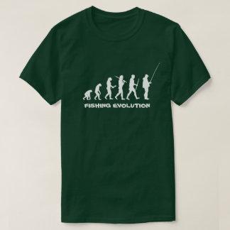 魚釣りの進化のおもしろいな漁師 Tシャツ