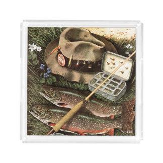 魚釣りの静物画 アクリルトレー