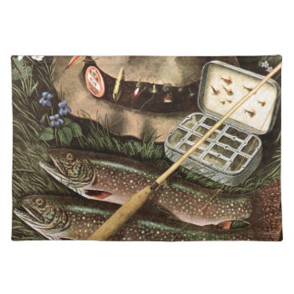 魚釣りの静物画 ランチョンマット