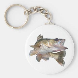 魚釣りのWalleye キーホルダー