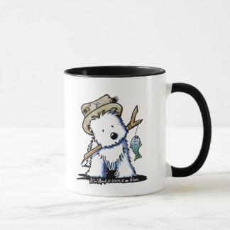 魚釣りのWestie犬のマグ マグカップ