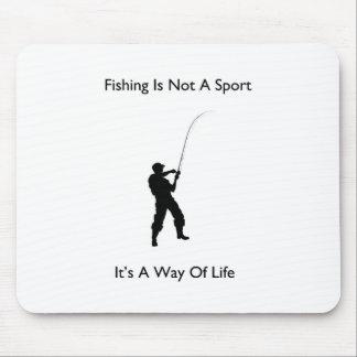 魚釣りはそれによってが生き方であるスポーツではないです マウスパッド