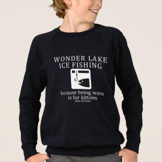 魚釣りはアメリカの服装のRaglanのスエットシャツをからかいます スウェットシャツ