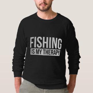 魚釣りは私のセラピーです スウェットシャツ