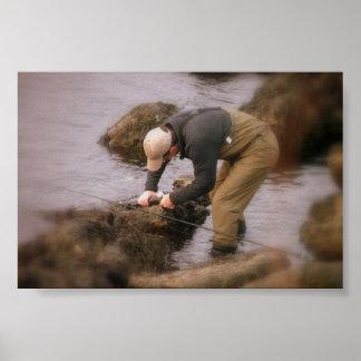 魚釣りニューポートロードアイランド ポスター