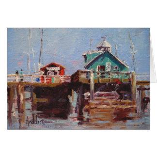 魚釣り桟橋 カード