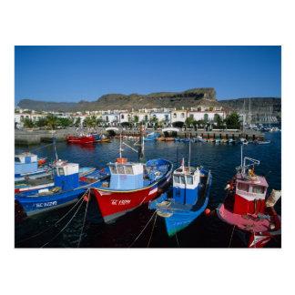 魚釣り港、プエルトde Mogan、Gran Canaria、 ポストカード