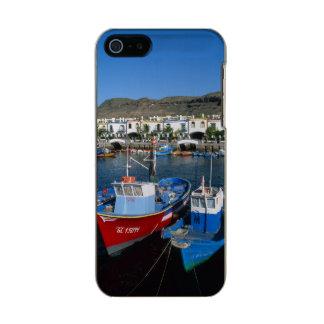 魚釣り港、プエルトde Mogan、Gran Canaria、 メタリックiPhone SE/5/5sケース