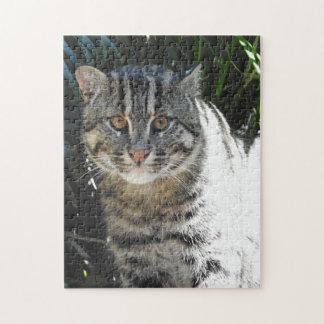 魚釣り猫 ジグソーパズル