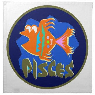 魚類のバッジ ナプキンクロス