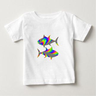 魚類のレインボーフィッシュの(占星術の)十二宮図のTシャツ ベビーTシャツ
