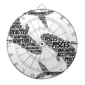 魚類の占星術の(占星術の)十二宮図の印の単語の雲 ダーツボード