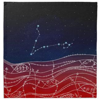 魚類の星座のデザイン ナプキンクロス