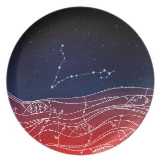 魚類の星座のデザイン プレート