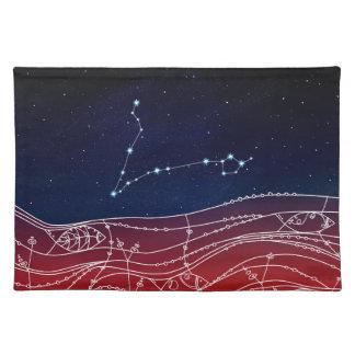 魚類の星座のデザイン ランチョンマット