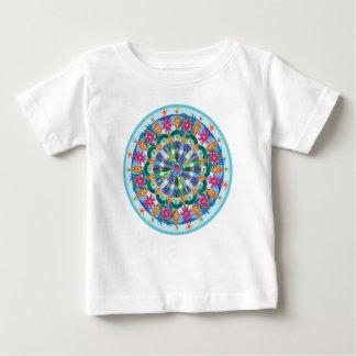 魚類の曼荼羅の乳児T ベビーTシャツ