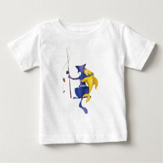 魚類の猫 ベビーTシャツ