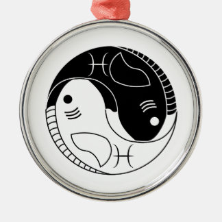 魚類の陰陽の魚の占星術の(占星術の)十二宮図の記号 メタルオーナメント