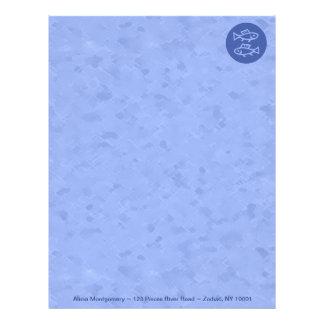 魚類の青い(占星術の)十二宮図 レターヘッド