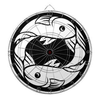 魚類の魚の(占星術の)十二宮図の占星術の占星術の印 ダーツボード