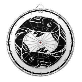 魚類の魚の(占星術の)十二宮図の占星術の印 ダーツボード