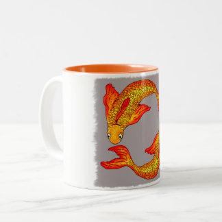 魚類の魚の(占星術の)十二宮図の芸術のマグ ツートーンマグカップ