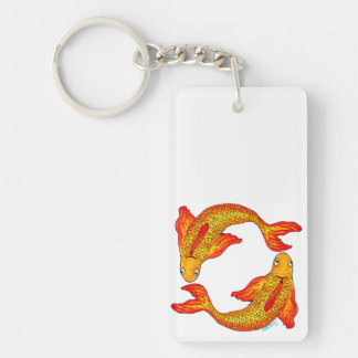 魚類の魚の(占星術の)十二宮図の芸術の倍はキーホルダー味方しました キーホルダー