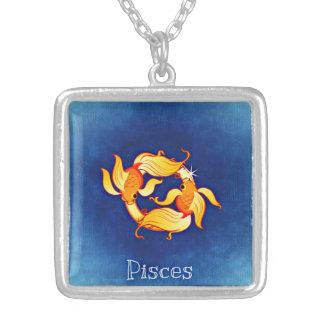 魚類の(占星術の)十二宮図のネックレス シルバープレートネックレス