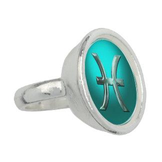 魚類の(占星術の)十二宮図の印 指輪