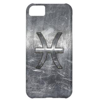 魚類の(占星術の)十二宮図はグランジな銀製の鋼鉄スタイルに署名します iPhone5Cケース