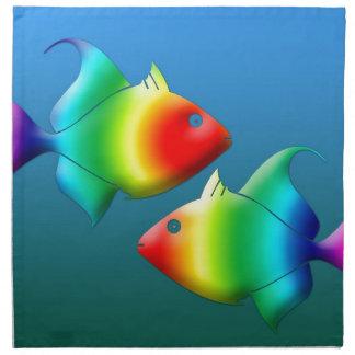 魚類は動物の海洋生物の十二宮を採取します ナプキンクロス