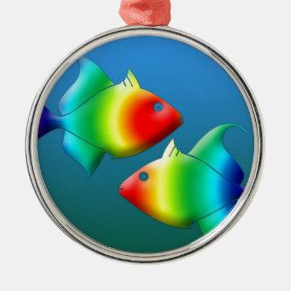 魚類は動物の海洋生物の十二宮を採取します メタルオーナメント