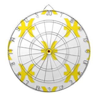 魚類パターン黄色 ダーツボード