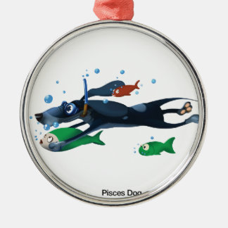 魚類犬 メタルオーナメント