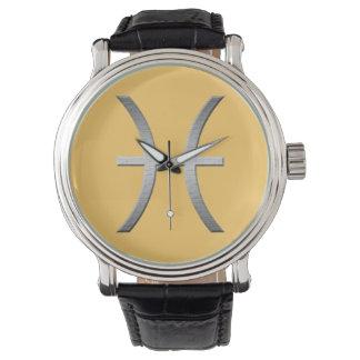 魚類-銀 腕時計