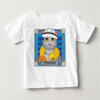 魚類Zodicatの乳児のTシャツ ベビーTシャツ