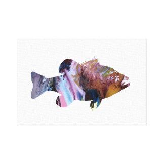 魚(とまり木)の芸術 キャンバスプリント