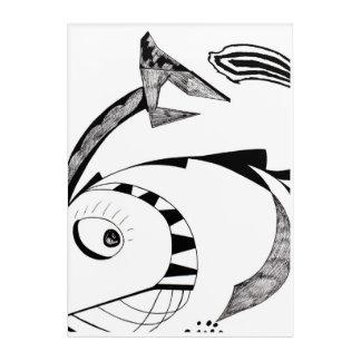 魚 アクリルウォールアート