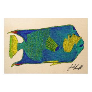 魚 ウッドウォールアート
