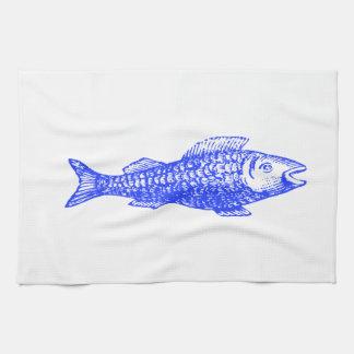魚 キッチンタオル