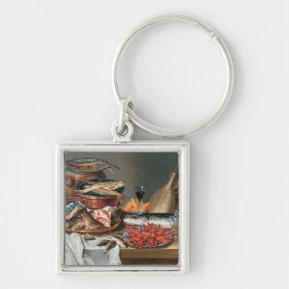 魚、マスおよびベビーのロブスター、1の静物画 キーホルダー