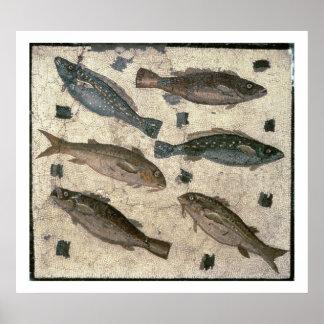 魚(モザイク) ポスター