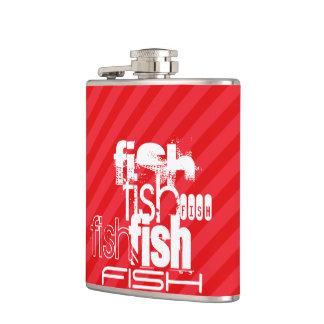 魚; 深紅の赤のストライプ フラスク